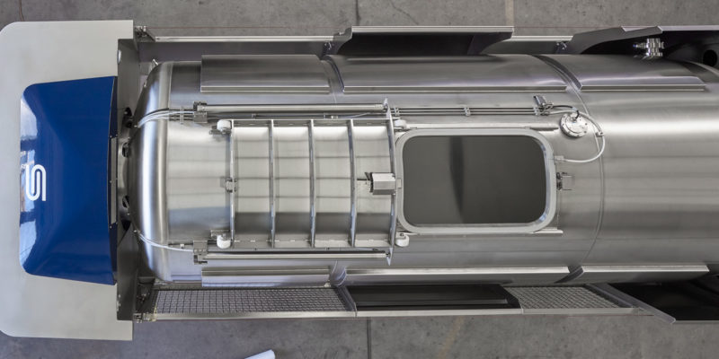 grape tank press Europress EP2 closed press system,