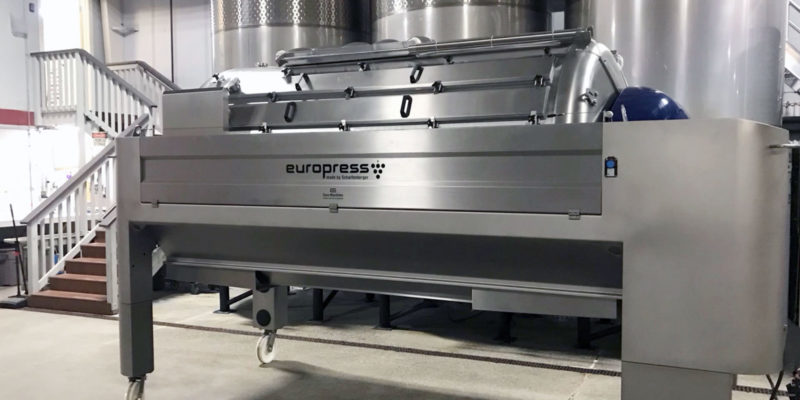 Europress, dual press-system, grape press