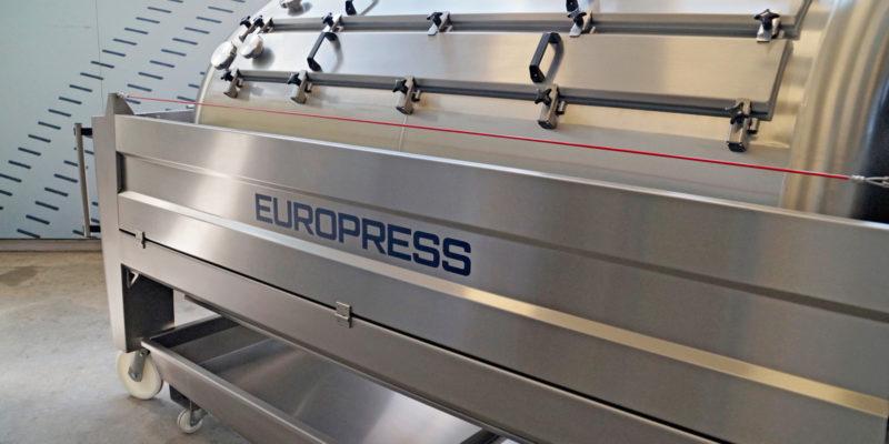 grape press Europress EP3 dual press system,